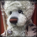 Cobbles - 22IN hand dyed mohair and faux fur bear by Emmas Bears - OOAK
