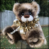 "Comet - 13"" faux fur and alpaca Christmas Bear by Emmas Bears - OOAK"