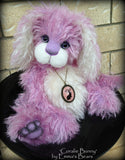 "Coralie Bunny - 17"" purple and white mohair artist bear  - OOAK by Emma's Bears"