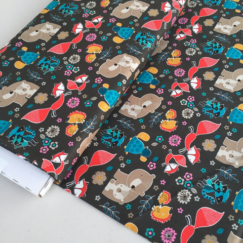 Mama and Me Woodland Creatures Quilters Cotton