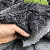 Anthracite - dense wavy crimped mohair/viscose blend fur - VERY LIMITED STOCK