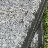 Zinc - dense wavy crimped mohair/viscose blend fur - VERY LIMITED STOCK
