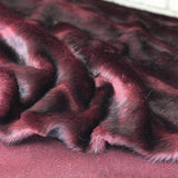 Crushed Garnet - High-Low Effect Faux Fur