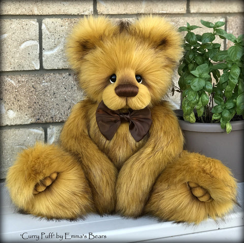 "KITS - 21"" Curry Puff faux fur bear"