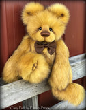 Curry Puff - 21IN faux fur bear by Emmas Bears - OOAK