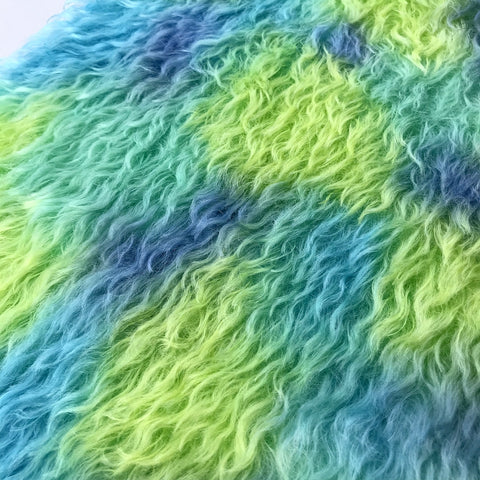 Bianca Mohair - Hand Dyed GREENS and BLUES - Fat 1/8m - DEC012