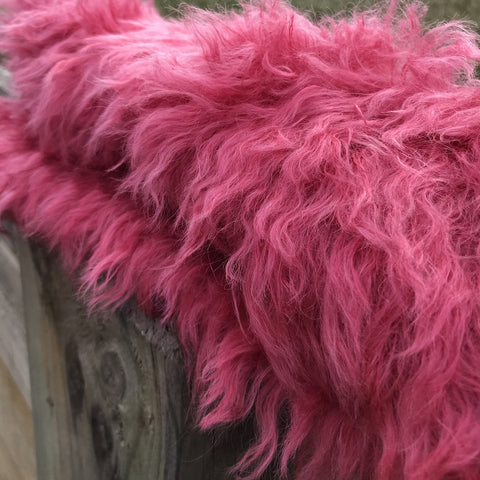 Eddie Long Shaggy Mohair - Hand Dyed Darkest Berry - Fat 1/4m - DEC002