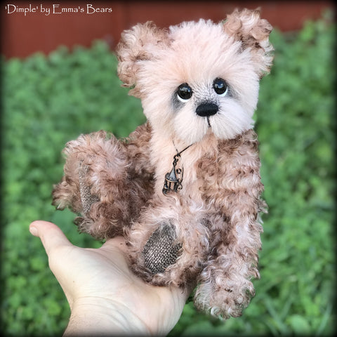 "KITS - 10"" Dimple Artist Mohair and Alpaca Bear by Emmas Bears"