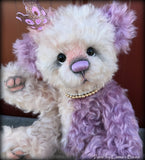 "Paris- 12"" hand dyed super curls mohair artist bear by Emma's Bears  - OOAK"