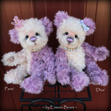 "Diva- 12"" hand dyed super curls mohair artist bear by Emma's Bears  - OOAK"