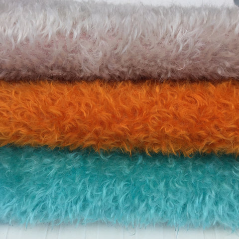 Double Thick Mohair - Hand Dyed TRIO of colours - Fat 1/6m pieces