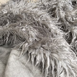 Drizzle - Shaggy Grey Faux Fur