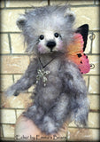 Echo - 8in mohair fairy Artist Bear by Emmas Bears