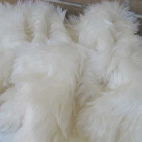Eddie - long ivory white Mohair