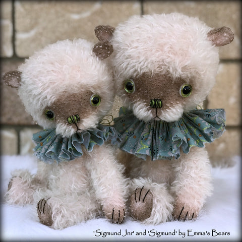 "Sigmund - 13"" hand-dyed double thick mohair Artist Bear by Emma's Bears - Limited Edition"
