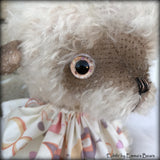 "Edith - 13"" hand-dyed double thick mohair Artist Bear by Emma's Bears - Limited Edition"