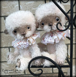 "Edith Jnr - 11"" hand-dyed double thick mohair Artist Bear by Emma's Bears - Limited Edition"