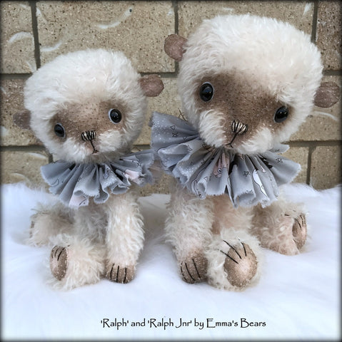 "Ralph Jnr - 11"" hand-dyed double thick mohair Artist Bear by Emma's Bears - Limited Edition"