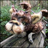 "Eilonwy Dragon - 40"" mohair dragon soft sculpture - OOAK by Emma's Bears"