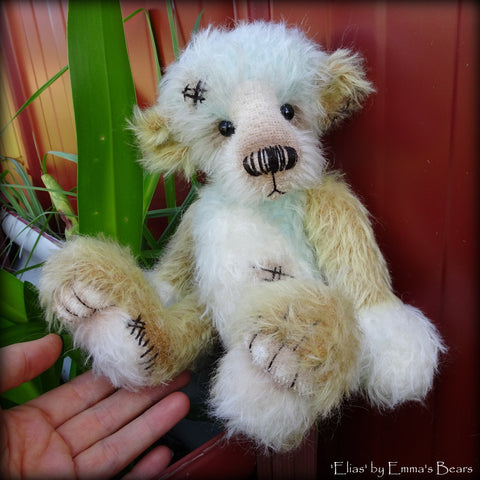 Elias - 10in well worn mohair Artist Bear by Emmas Bears