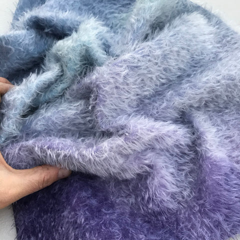 Errol Mohair - Hand Dyed BLUE and PURPLE - Fat 1/8m - AUG020