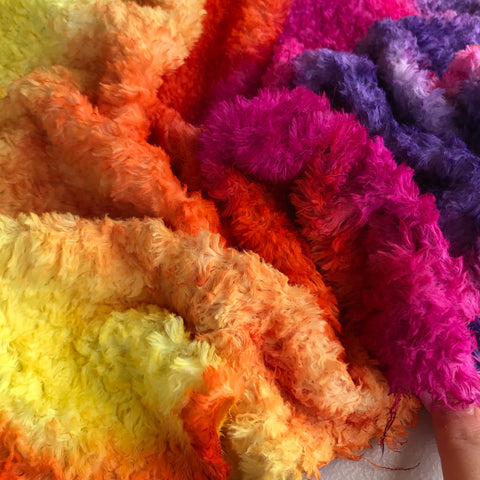 Long Viscose - Hand Dyed Sunset - Fat 1/8m - OCT038