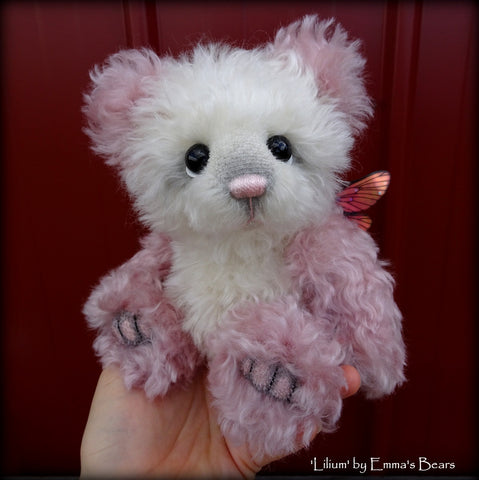 Lilium - 9IN hand dyed kid mohair bear by Emmas Bears - OOAK