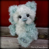 Piksi - 9IN Hand Dyed curly kid mohair bear by Emmas Bears - OOAK