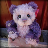 Tansy - 9IN hand dyed kid mohair bear by Emmas Bears - OOAK