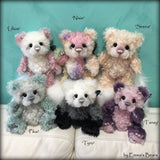 Sirena - 9IN hand dyed mohair bear by Emmas Bears - OOAK