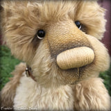 "Franklin - 17"" gold mohair Artist Bear by Emma's Bears - OOAK"