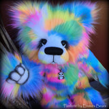 "KITS - 16"" Funfetti faux fur bear"