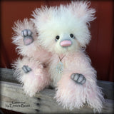 "Genevive - 13"" mohair panda bear artist creation by Emmas Bears - OOAK"