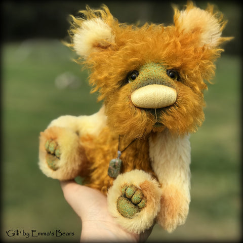 "Gilli - 11"" Hand Dyed Mohair and Alpaca Artist Bear by Emma's Bears - OOAK"