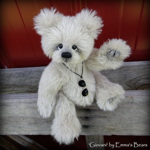 Giovani - 8in alpaca Artist Bear by Emmas Bears