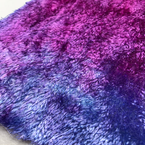 Curly Viscose - Hand Dyed Ripe Berry - Fat 1/8m - MAR022