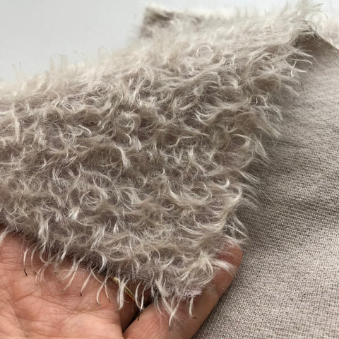 Errol Mohair - Hand Dyed Beige Stone - Fat 1/8m - MAR011