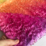 Crimped Mohair/Viscose - Hand Dyed Sunset - Odd sized 1/4m - MAR014