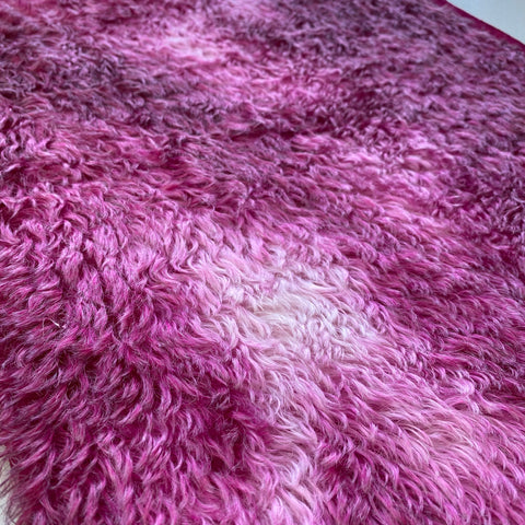 Penny Mohair/Viscose - Hand Dyed Berry Pink - Fat 1/8m - APR011