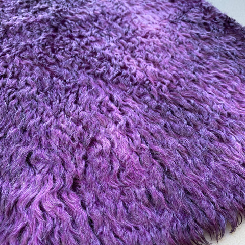 Penny Mohair/Viscose - Hand Dyed Deep Violet - Fat 1/8m - APR012