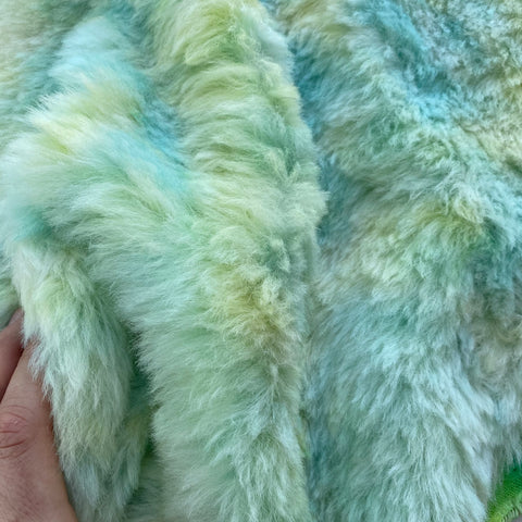 Long Alpaca - Hand Dyed Spring Garden - Fat 1/8m - APR023