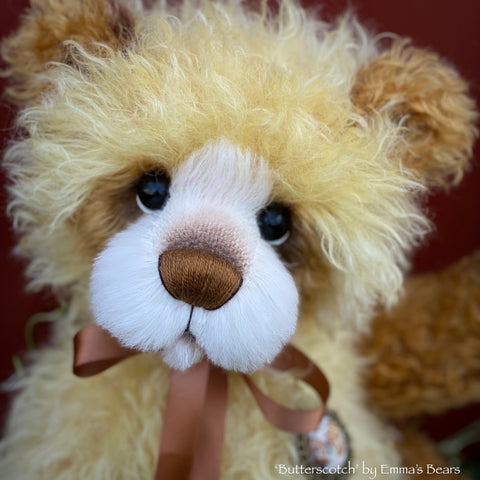 "Butterscotch - 18"" Hand-Dyed Mohair Artist Bear by Emma's Bears - OOAK"