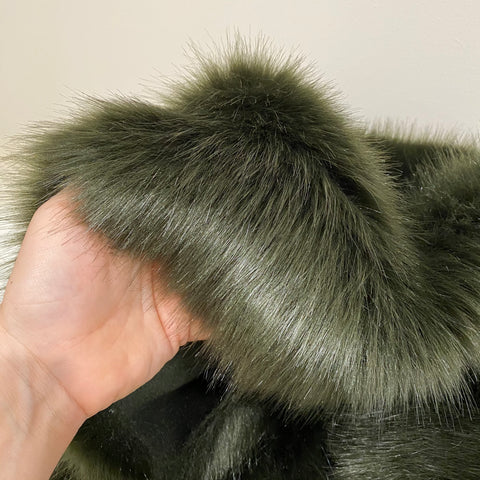 DARK OLIVE - Luxury Faux Fur - 2021 Range - HEAVY PILE