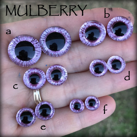 Hand Painted Eyes - MULBERRY