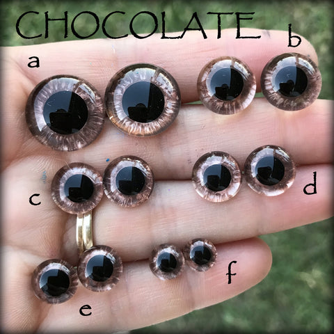Hand Painted Eyes - CHOCOLATE