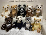 "December Dickens - 18"" Christmas 2020 MOHAIR Artist toddler style Bear by Emma's Bears - OOAK"