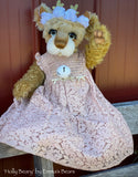 "Holly Beary - 18"" Christmas 2020 MOHAIR Artist toddler style Bear by Emma's Bears - OOAK"