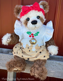 "Plum Pudding - 18"" Christmas 2020 MOHAIR Artist toddler style Bear by Emma's Bears - OOAK"