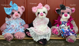 "Primrose - 18"" Hand-dyed mohair Artist Baby Bear by Emma's Bears - OOAK"