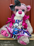 "Scarlet - 18"" Hand-dyed mohair Artist Baby Bear by Emma's Bears - OOAK"